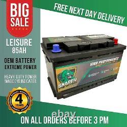 12v 85ah Leisure Battery High Power Deep Cycle 4yr Warranty Caravan Campervan