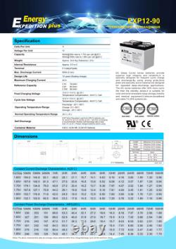 12v 90ah Expedition Plus Agm Leisure Battery (exp12-90)