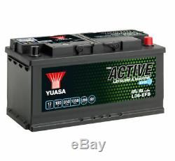 12v Yuasa 100ah Efb Leisure Battery (l36-efb)