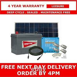 130Ah Leisure Battery, 175W Solar Panel, Charge Controller, Cable and Brackets