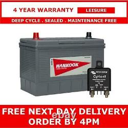 130Ah Leisure Battery with 120A Cyrix Relay for Camper Conversion