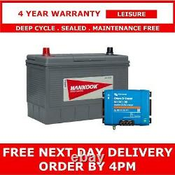 130Ah Leisure Battery with Smart DC-DC 12V 30A Battery to Battery Charger