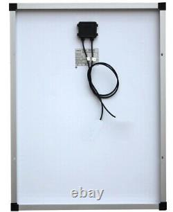 130W Mono PV Solar Panel c/w 3m cable for charging 12v battery Caravan Motorhome