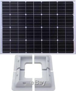 130W Mono PV Solar Panel c/w 3m cable for charging 12v battery + corner brackets