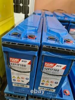 2 FIAMM FiT 12V 180AH (24V-200AH) BATTERY FOR LEISURE/SOLAR OFF GRID INVERTER
