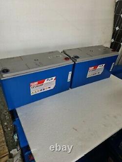 2 Fiamm Flb450p 12v 120ah 24v-120ah Battery For Leisure/solar Off Grid Inverter