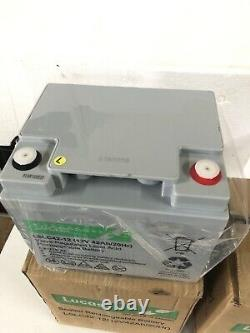 2 LUCAS ENERGY LC44 12v 42AH RECHARGEABLE LEISURE BATTERY INVERTER SCOOTER ETC