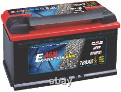 2 X 12V Expedition 105AH AGM Leisure Batteries Deep Cycle