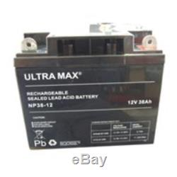 2 X ULTRA MAX 38AH-12V 40AH, 42AH & 45AH AGM/GEL Leisure & MOBILITY BATTERIES