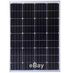 2 x 100W = 200w Mono PV Solar Panel /w 3m cable for 12v 24v battery Caravan RV