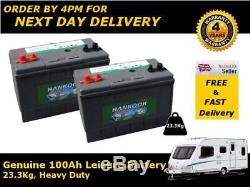2x 100Ah 110Ah Deep Cycle Leisure Battery 12V DC31 23.3Kg