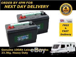 2x 100Ah 110Ah Deep Cycle Leisure Battery 12V DC31 Charged and Ready To Go