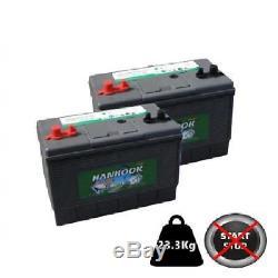 2x 100Ah 110Ah Leisure Battery 12V DC31 Calcium Technology