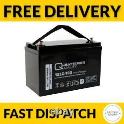 2x 100Ah 12V Deep Cycle AGM Battery for Leisure, Solar, Wind and Off-grid 12volt