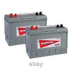 2x 100Ah Leisure Batteries, 115W Solar Panel & MPPT Charger Controller Set