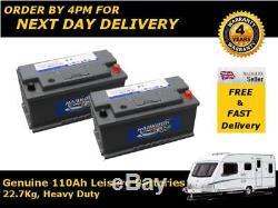 2x 110Ah Leisure Battery Caravan Camper Van 12V Low Height Low Price