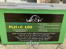 2x 12v 100AH Leoch Pure AGM Lead Carbon PLH+ C100 Deep Cycle Leisure Batterys