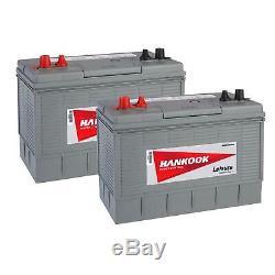 2x 2x Hankook XL31S Leisure Batteries 12V 130AH