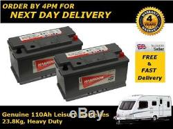 2x Hankook 110Ah Deep Cycle Leisure Battery 12V Sealed Technology