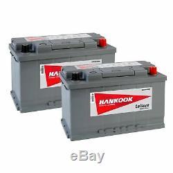 2x Hankook XV85 Leisure Batteries 12V 85AH