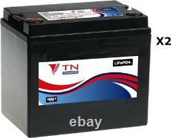 2x TN Power 12V 33Ah Lithium Leisure Batteries for Golf & Mobility