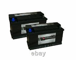 2x Titanium 110Ah Deep Cycle Leisure Batteries for Campers, Caravan, Motorhome