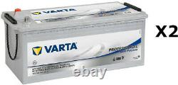 2x Varta LFD180 Dual Purpose Leisure Batteries 12V 180Ah 1000A