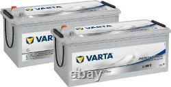 2x Varta LFD180 Dual Purpose Leisure Batteries 12V 180Ah Caravan Motorhome Boat