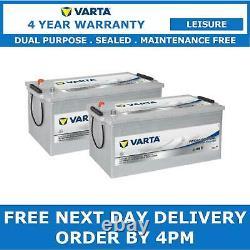 2x Varta LFD230 Dual Purpose Leisure Batteries 12V 230Ah Caravan Motorhome Boat