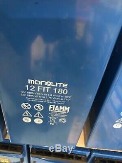 3 FIAMM Monolite 12V-180AH  6.5KW Leisure /SOLAR /OFF GRID INVERTER BATTERIES