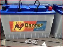 3 x Banner Energy Bull Leisure Battery 95901 12V 135Ah