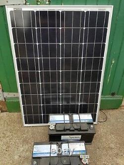 4 x 12 v leisure batteries and Solar Panel