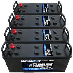 4 x 12v 140ah Deep Cycle Leisure Marine Boat Solar Battery