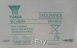4 x yuasa 160ah 6v battery leisure sealed deep cycle 12v 24v (320ah @ 12v)