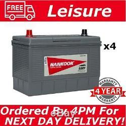 4x 12V 130AH Leisure Battery DEEP CYCLE for Motorhome / Caravan Campervan XL31S