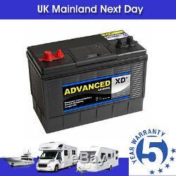 6 x SUPER HEAVY DUTY XD31 Leisure Battery 12v 5yr Warranty 115 ah 1000cca