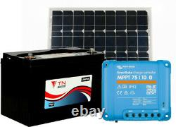 84Ah Lithium Leisure Battery, 90W Solar Panel and MPPT 75/10 Charge Controller