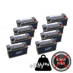 8x Hankook 110Ah Leisure Batteries 12V, Maintainence Free