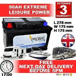90AH 80 85 90 ah 12 volt LEISURE BATTERY HIGH SPEC battery BRANDED 90ah TRUE AH