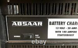 ABSAAR 12V 20Amp (20A) Heavy Duty Leisure & Marine Battery Charger 180A Booster