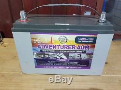 Adventurer AGM 130 amp hour 12V Deep Cycle Leisure Battery
