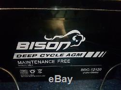 Bison BDC-12120 12v AGM Leisure Battery 120ah