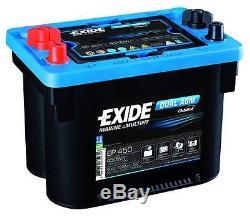 Brand New Leisure Exide DUAL AGM Battery 12V 750CCA EP450