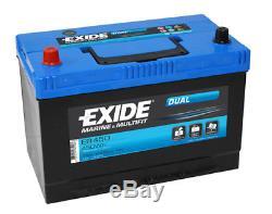 Brand New Leisure Exide Flooded Battery 12V 650CCA ER450 2 Year Warranty