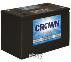 Crown 6CRV215 6v 215ah AGM Battery x 4 (24V or 12V System) Deep Cycle Leisure