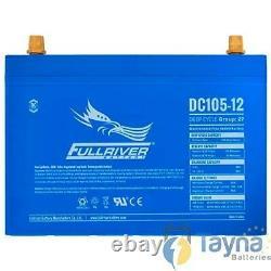 DC105-12 FullRiver DC Series Deep Cycle AGM Leisure Battery 105Ah