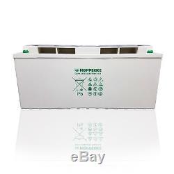 Deep Cycle GEL Battery 12V 150Ah C100 HOPPECKE Solar Off Grid Systems, Leisure