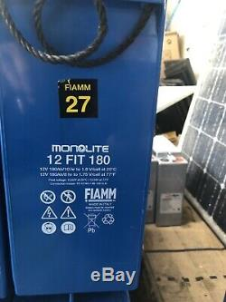 FIAMM Monolite 12V-180AH (6.5KW) Leisure /SOLAR /OFF GRID INVERTER BATTERIES