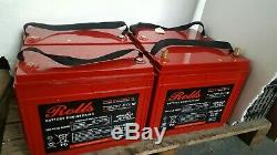 FOUR ROLLS AGM 12v 160AH (640AH) LEISURE / SOLAR BATTERY / INVERTER