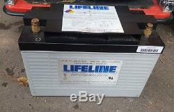 GPL-31T Lifeline AGM Battery leisure battery 105 AMP 12v cycle camper ambulance
